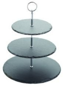 Kitchen Craft KCG3TSLATE 3-Tier 35 cm Slate Cake Stand