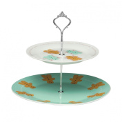Support Cake Stand Gingerbread Man 2 Tier Made of Porcelain