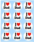"""12 x """"I Love Dad"""" Toppers"""