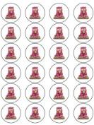 24 Bagpuss Cupcake Toppers