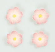 12 PINK DAISIES Sugar Cake Decorations (Pipings){Cupcake Toppers}