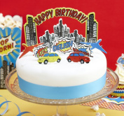 Birthday Cake Toppers - Pop Art Superhero Party