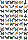 54x Pre-cut Mixed Butterfly Edible Cupcake Toppers