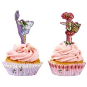 Fairies cupcake cake toppers and cases