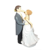 Caucasian Bride & Groom Cake Topper