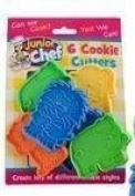 JUNIOR CHEF 6 ANIMAL COOKIE CUTTERS kids childrens biscuit pasrty shapes