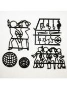 Patchwork Cutters - Disco Dancers - Sugarcraft Cutter