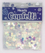 Eurowrap 3 x Bags of Hearts, Pearl Irridescent coloured Foil Confetti Table Sprinkles