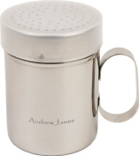Andrew James Chocolate, Icing Sugar, Flour Shaker With Cover - High Quality Grade 202 Stainless Steel