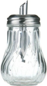 200ml Glass Sugar Pourer Shaker Dispenser with Stainless Steel Top