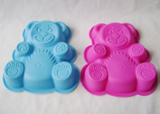 2 Silicone Teddy Bear Moulds