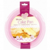 High Quality Pink Non-Stick Silicon Round Cake Pan Tray Baking