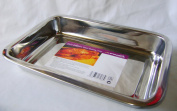 """NEW STAINLESS STEEL ROASTING BAKING TRAY OVEN TIN 30cm 12"""" PRIMA"""