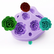 2pcs 4 Size Rose Flower Silicone Fondan Mould Sugarcraft Cake Decorating Wedding