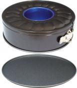 "Ring Bundt Tube Springform Cake & Bread Tin Set for Professional Baking, 9"" (22.5cm) Double Base Pan"