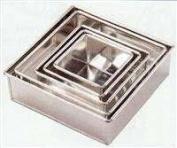 "Invicta Professional Heavy Weight Square 3"" deep Cake Tin 12"" 304cm)"