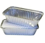Deli Supplies 500x Aluminium Foil Containers & Lids Size 6A Trays Tray Takeaway Silver Chinese
