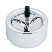 Beautiful modern rotary ashtray, wind ashtray, metal ashtray / chrome 11cm diameter, H-16051
