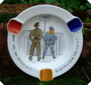 c1940s Comic Risque Hand Painted Ashtray Urinals