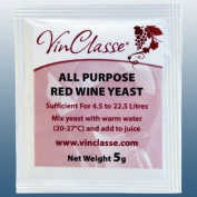 Home Brew & Wine Making - VinClasse® All Purpose Red Wine Yeast - 5 Gramme Sachet