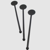 Pack of 250 Black Ball Headed Disc Stirrer - Cocktail Swizzle Sticks