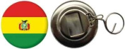 Bolivia Country Flag Large 58mm Button Badge Bottle Opener