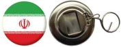 Iran Country Flag Large 58mm Button Badge Bottle Opener