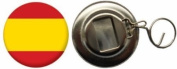 Spain Federal Country Flag Large 58mm Button Badge Bottle Opener