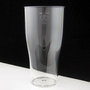Virtually Unbreakable Polycarbonate Tulip Plastic Half Pint Glass