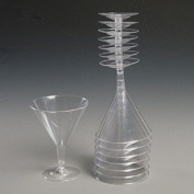 Essential Housewares Pack Of 8 Clear 2570ml Martini Glasses Clear 240ml