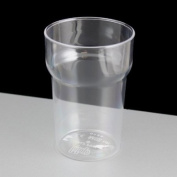 Virtually Unbreakable Polycarbonate Nonic Plastic Half Pint Glass