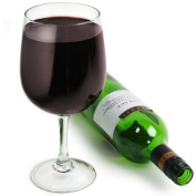 Giant Wine Glass - Wine Bottle In A Glass Glass - Holds a Bottle of Wine 750ml / 75cl - Big XXL XL Extra Large