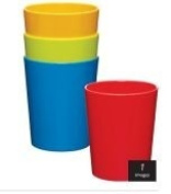 Miniamo Brights Melamine Tumblers, Set of 4