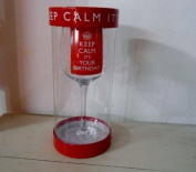 """""""KEEP CALM IT'S YOUR BIRTHDAY"""" Wine Glass - Presented In A Gift Box"""