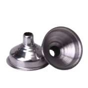 2Pcs Stainless Steel Hip Flask Funnel--Silver