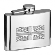 4 oz Union Jack Hip Flask - in Gift Box