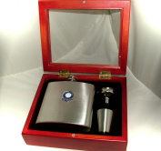 Leicester City (Foxes) Football Club 180ml Hip Flask Gift Set