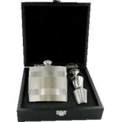 6 oz Satin Lined Hip Flask Set