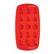 Bar Craft Ice Cube Tray, Silicone - Christmas Shapes