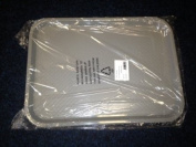 Kristallon Foodservice Tray - Grey polypropylene. 305 x 415mm