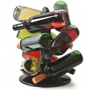 Rotatable 9 Bottle Wine Rack from bar@drinkstuff | Rotating Wine Bottle Rack, Wine Carousel, Bottle Carousel
