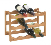 Wenko 18615100 Wine Rack Norway for 12 Bottles Made from Walnut 42 x 28 x 21 cm