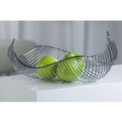 DESIGN FRUIT BASKET / BOWL chromed steel silver