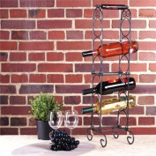 DESIGNER 6 BOTTLE WINE RACK HOLDER cage storage wrought iron stand from XTRADEFACTORY