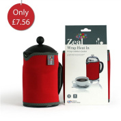 Zeal Wrap Heat-In Insulated 8 Cup Cafetiere Jacket - Red
