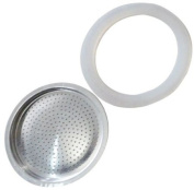 Andrew James Spare filter and Silicone Gasket For A 3 Cup Size Stove Top Espresso Coffee Percolators And Moka Pots