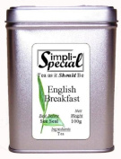 English Breakfast Loose Leaf Tea 100g in Stackable Gift Caddy.