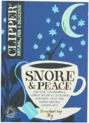 Clipper Organic Infusion Snore and Peace Organic Chamomile, Lemon Balm and Lavender Enveloped 20 Teabags 30 g