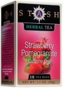 Stash Tea Strawberry Pomegranate Red Herbal 18 Count Box