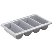 Plastic Kristallon Cutlery Tray / Basket - 4 Compartment - Ideal for the home or professional kitchen